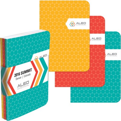 "ValueColor™ TriPac NotePad w/GraphicWrap (3 Count) (5""x7"")"